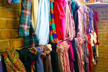 Buy scarves from the opshop